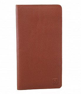 W85-Rafel -Travel document wallet in Genuine Leather - Tan