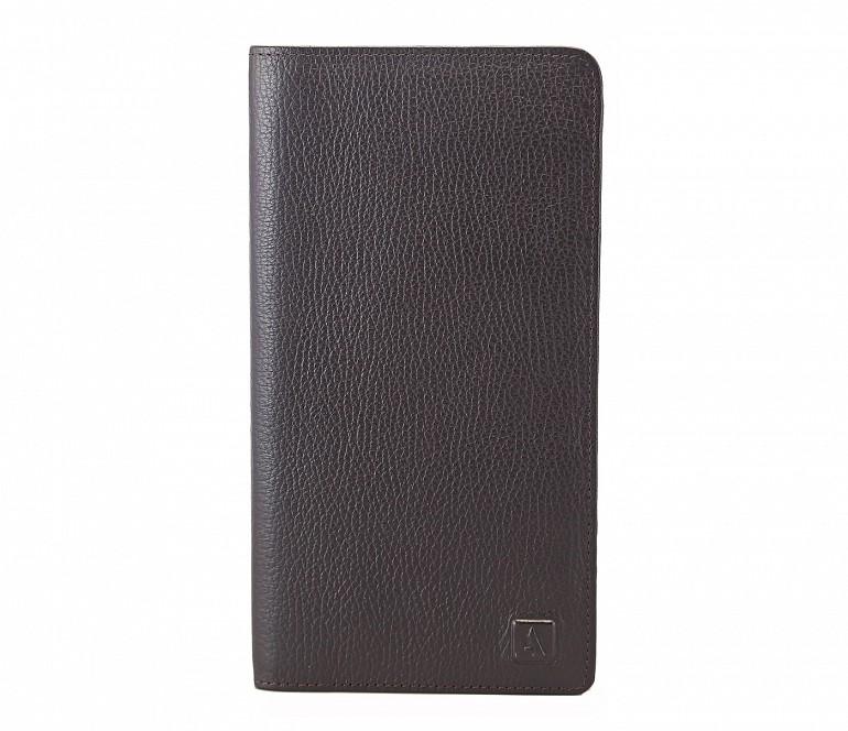 W85-Rafel -Travel document wallet in Genuine Leather - Brown